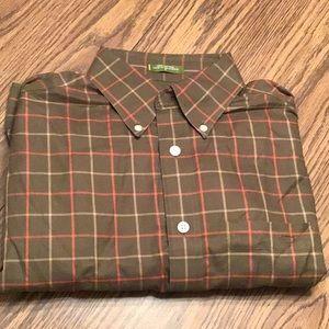 Orvis long sleeve heritage shirt, size M